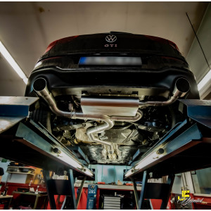 "3.5"" / 89mm MaxXPipe mit EG-Genehmigung VW Golf 8 GTI"